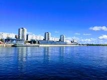 Mächtiger Fluss Yenisei Lizenzfreie Stockfotografie