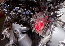 Mächtiger ultra-modern Motor Stockfoto