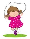 Mädchen-Überspringen stock abbildung