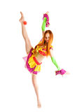 Mädchen als Clown Lizenzfreies Stockfoto