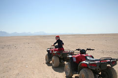 Mädchen auf ATV Lizenzfreies Stockbild