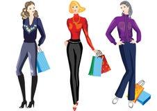 Mädchen auf dem Einkaufen. Stockfoto
