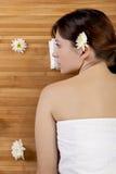 Mädchen auf einem Badekurort Stockfotos