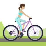 Mädchen auf Fahrrad Stockfotos