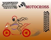 Mädchen auf Motocross Stockfotografie