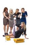 Mädchen auf paty Stockfotos