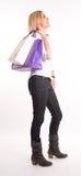 Mädchen auf shopping spree Lizenzfreie Stockfotos