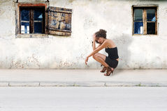 Mädchen auf Straße Lizenzfreies Stockbild
