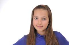 Mädchen auf weißem Hintergrund Stockfotos