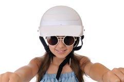Mädchen auf weißem Hintergrund Lizenzfreie Stockfotos