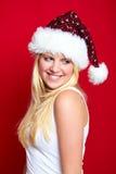 Mädchen auf Weihnachten lächelt Lizenzfreies Stockbild