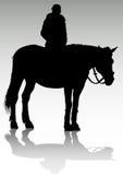 Mädchen auf zu Pferde Lizenzfreie Stockfotografie