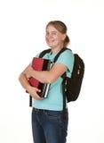 Mädchen betriebsbereit zur Hochschule Stockbild