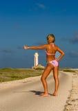 Mädchen caribean Stockfoto