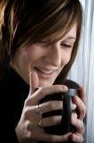 Mädchen cofee Lizenzfreies Stockfoto