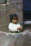 Mädchen, Cuzco stockfoto