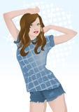 Mädchen dancin stock abbildung