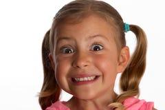 Mädchen, das aufgerüttelt schaut Lizenzfreie Stockfotografie