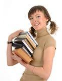 Mädchen, das ein Buch anhält Lizenzfreies Stockfoto