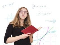 Mädchen, das ein Buch hält Lizenzfreies Stockbild