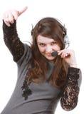 Mädchen, das ein Lied singt lizenzfreie stockfotografie
