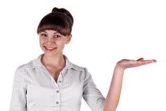 Mädchen, das mit sich darstellt Lizenzfreies Stockfoto