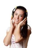 Mädchen, das Musik hört Stockbilder
