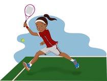 Mädchen, das Tennis spielt Lizenzfreie Stockfotografie