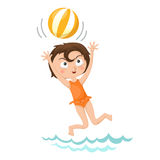 Mädchen, das Volleyball spielt Lizenzfreies Stockbild