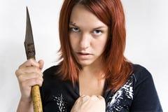 Mädchen, das während Mord strossenweise gegewonnen wird Stockbild