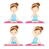 Mädchen, das Yogaübung tut Lizenzfreie Stockbilder