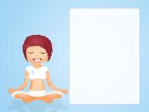 Mädchen, das Yoga tut lizenzfreie abbildung