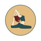 Mädchen, das Yoga 2 tut Stockfoto