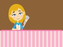 Mädchen, das Zuckerglasur verziert Lizenzfreie Stockfotos