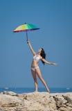 Mädchen in dem Meer Lizenzfreies Stockbild