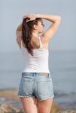 Mädchen in dem Meer Lizenzfreie Stockbilder