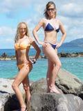 Mädchen in den Bikinis Stockfotografie