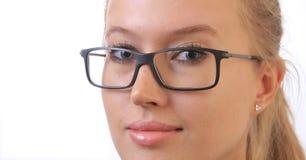 Mädchen in den Brillen. Stockbild