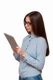 Mädchen in den Gläsern Lizenzfreies Stockfoto