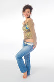 Mädchen in den Jeans Lizenzfreie Stockbilder