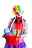 Mädchen in den Karnevalskostümen mit einem Korb Lizenzfreie Stockbilder