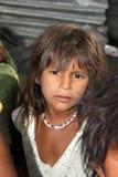 Mädchen in der Armut stockfotografie