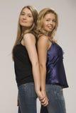 Mädchen der Blondine der Freundin Stockfotos