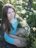 Mädchen in der Blume Stockfoto