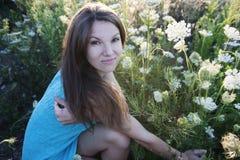 Mädchen in der Blume Stockbild