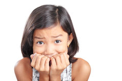 Mädchen in der Furcht stockfoto