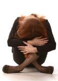Mädchen in der großen Sorge Lizenzfreies Stockbild