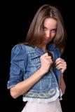 Mädchen in der Jacke Stockbild
