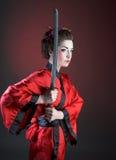 Mädchen in der japanischen Art Stockfotos