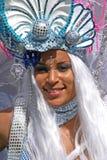 Mädchen in der Karnevalsparade Lizenzfreie Stockfotos
